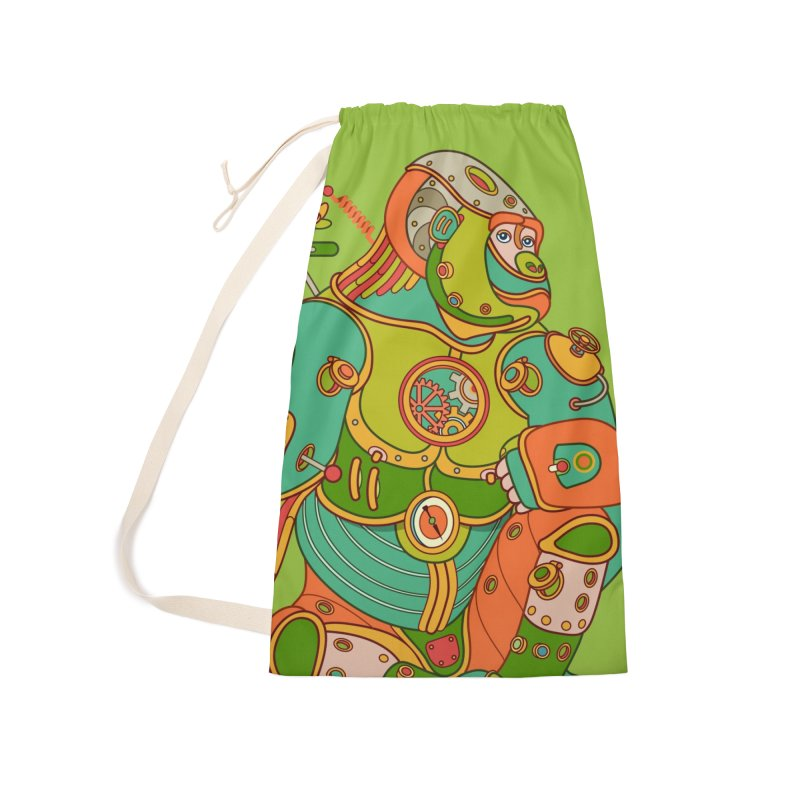 Gorilla, cool art from the AlphaPod Collection Accessories Laundry Bag Bag by AlphaPod