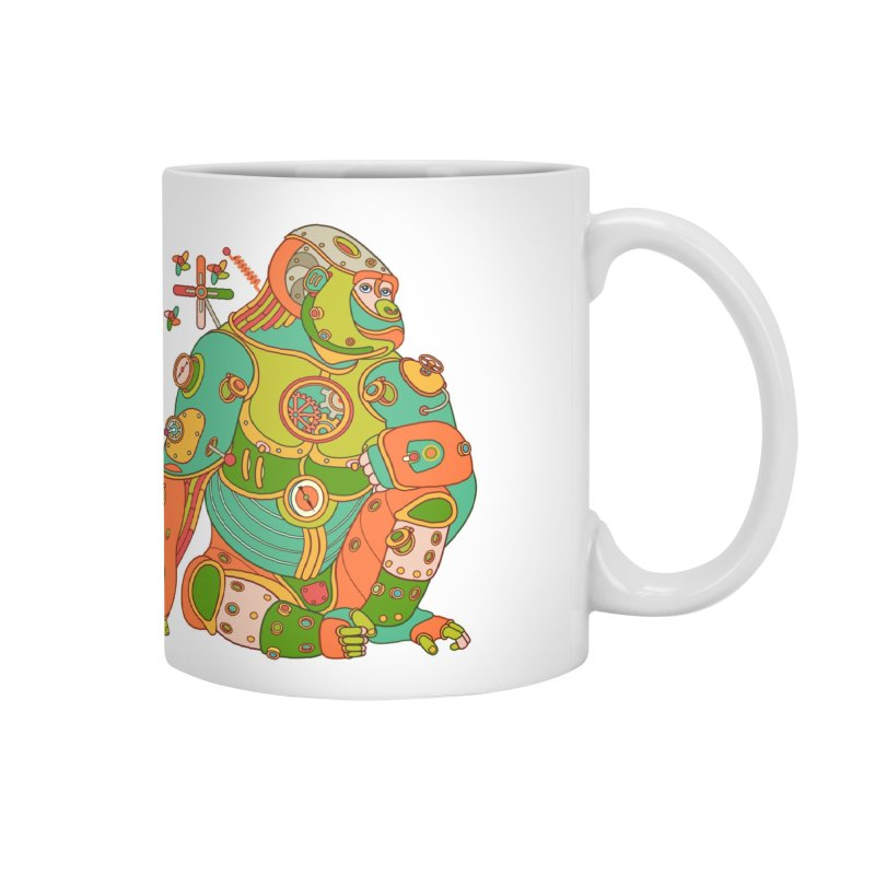 Gorilla, cool art from the AlphaPod Collection Accessories Mug by AlphaPod