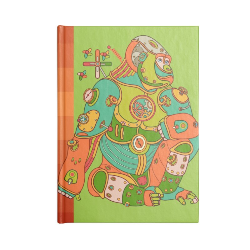 Gorilla, cool art from the AlphaPod Collection Accessories Notebook by AlphaPod