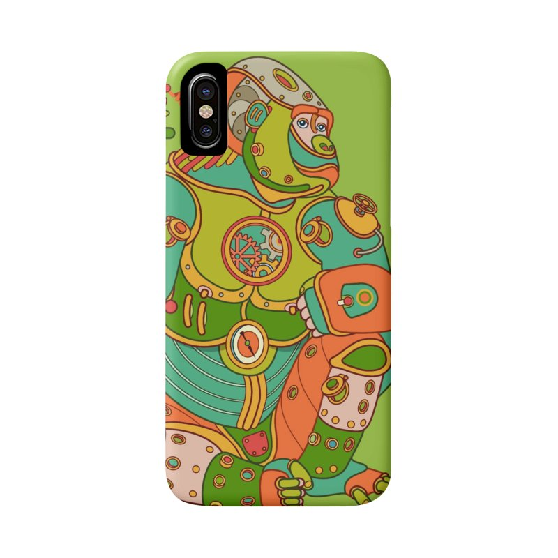 Gorilla, cool art from the AlphaPod Collection Accessories Phone Case by AlphaPod