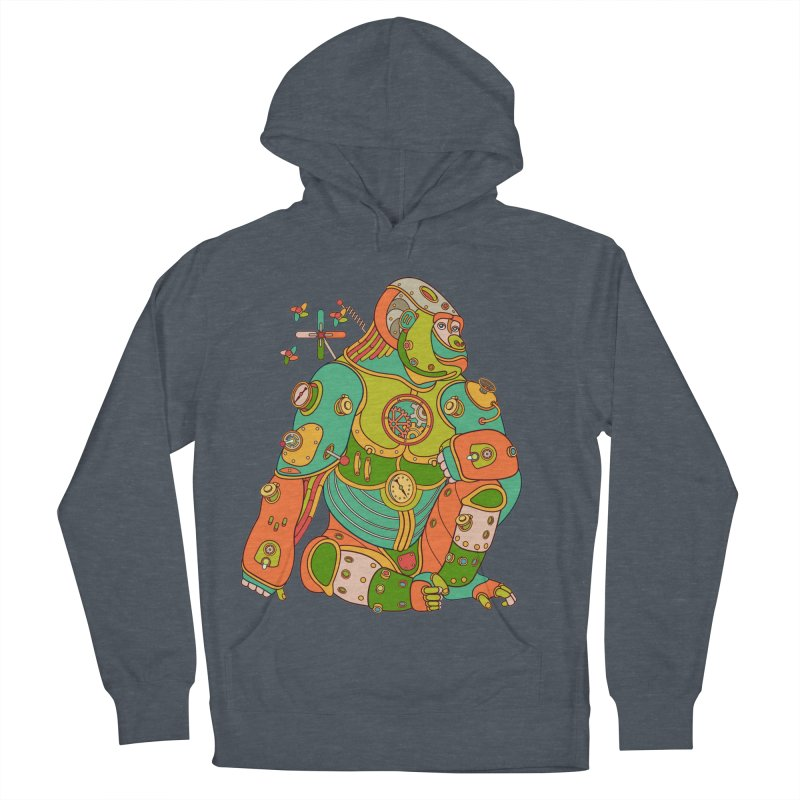 Gorilla, cool wall art for kids and adults alike Men's Pullover Hoody by AlphaPod