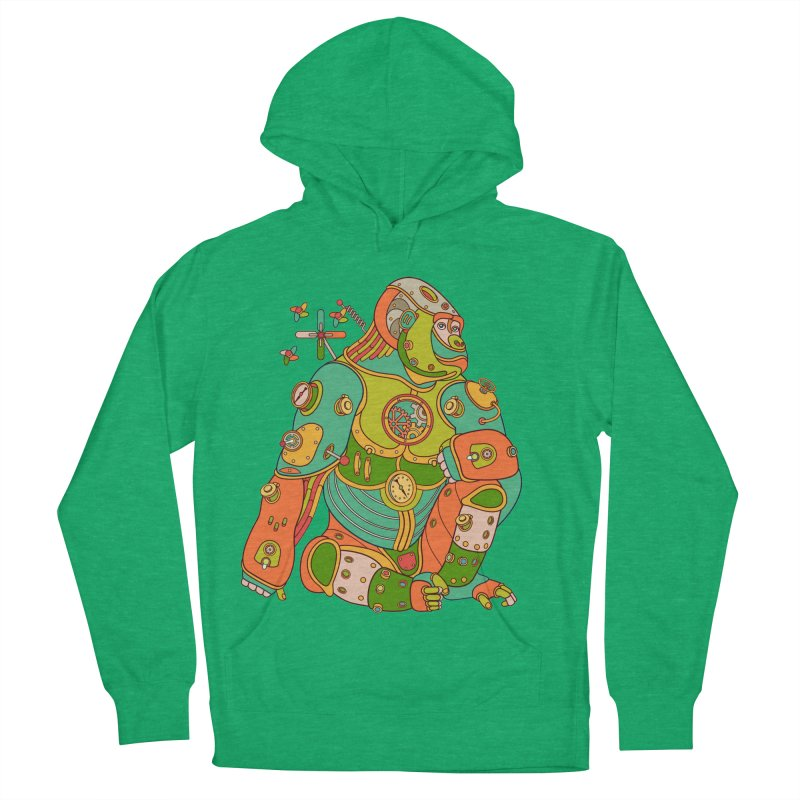 Gorilla, cool art from the AlphaPod Collection Men's Pullover Hoody by AlphaPod