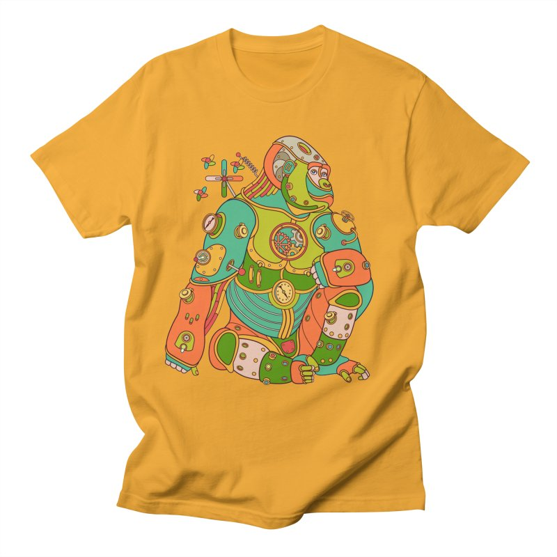 Gorilla, cool wall art for kids and adults alike Men's T-shirt by AlphaPod