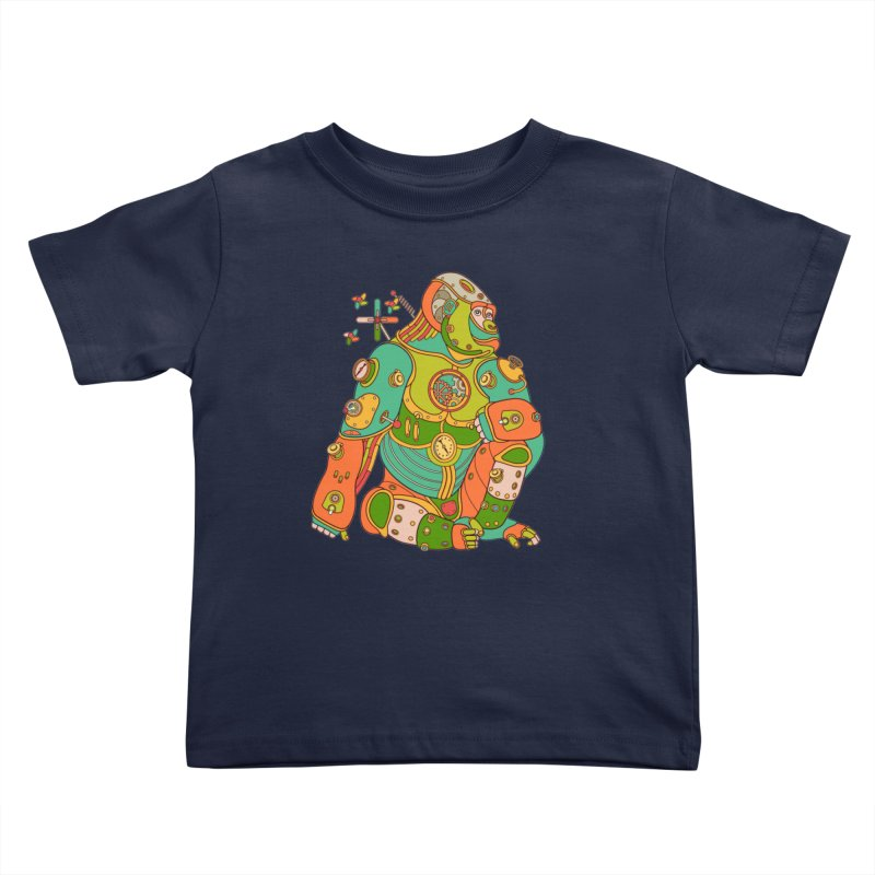 Gorilla, cool art from the AlphaPod Collection Kids Toddler T-Shirt by AlphaPod