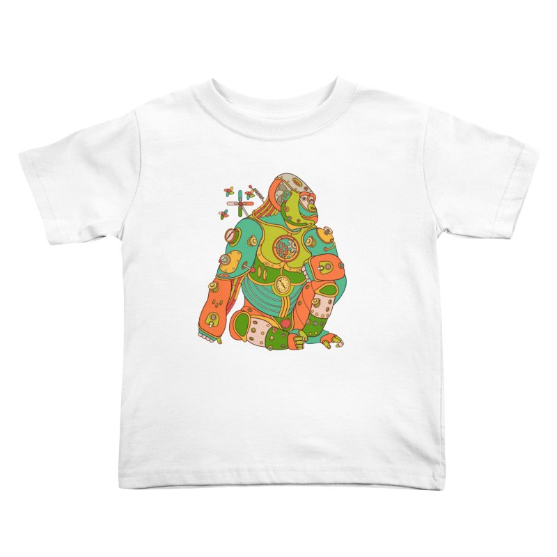 Gorilla, cool wall art for kids and adults alike Kids Toddler T-Shirt by AlphaPod