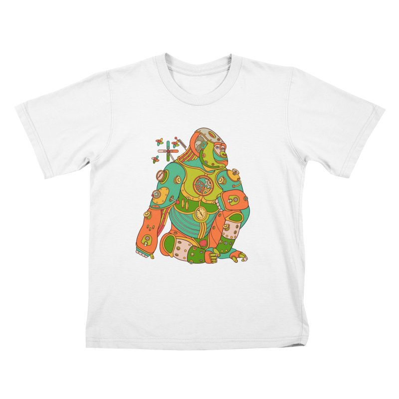 Gorilla, cool wall art for kids and adults alike Kids T-shirt by AlphaPod