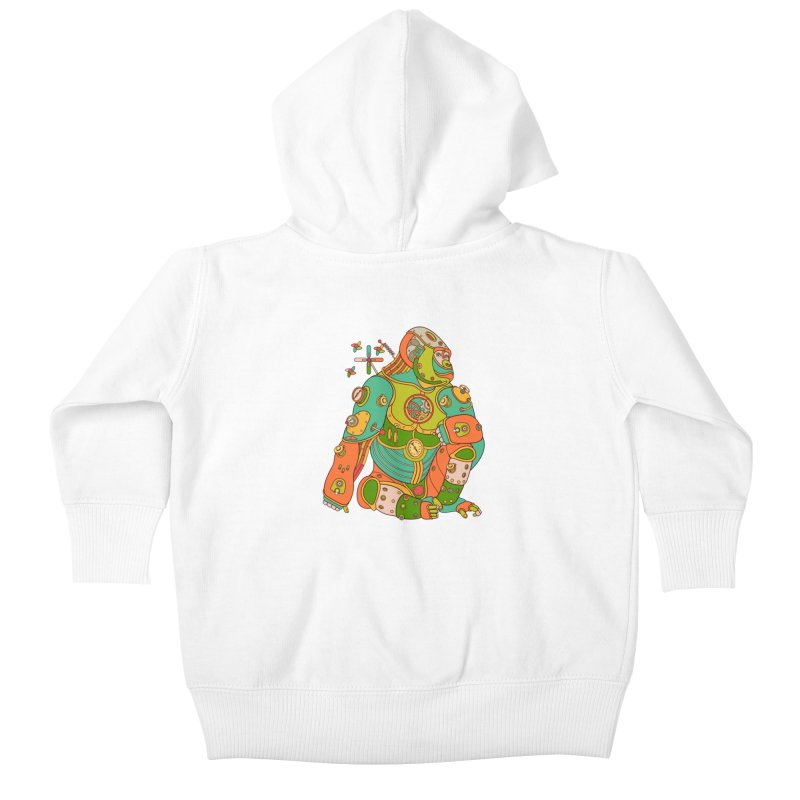 Gorilla, cool wall art for kids and adults alike Kids Baby Zip-Up Hoody by AlphaPod