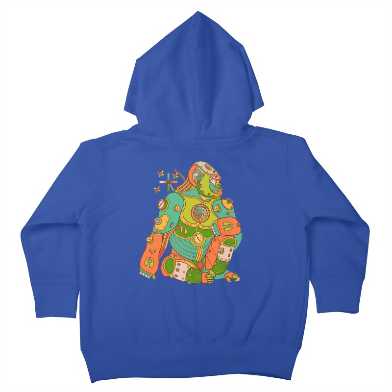 Gorilla, cool wall art for kids and adults alike Kids Toddler Zip-Up Hoody by AlphaPod