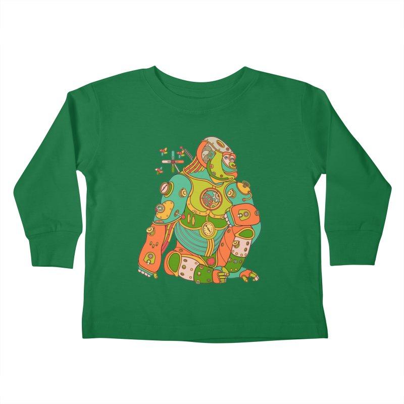 Gorilla, cool art from the AlphaPod Collection Kids Toddler Longsleeve T-Shirt by AlphaPod