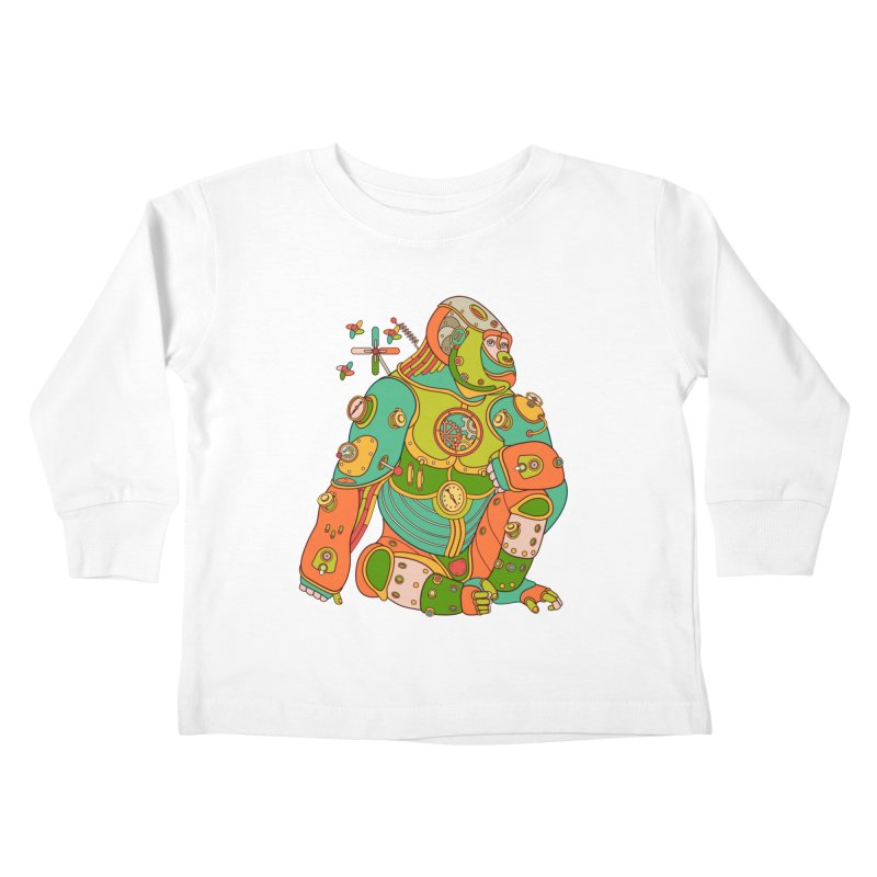Gorilla, cool wall art for kids and adults alike Kids Toddler Longsleeve T-Shirt by AlphaPod