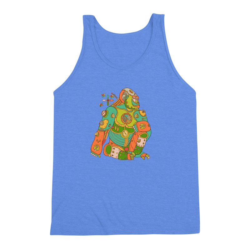 Gorilla, cool art from the AlphaPod Collection Men's Triblend Tank by AlphaPod