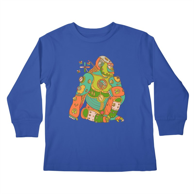 Gorilla, cool wall art for kids and adults alike Kids Longsleeve T-Shirt by AlphaPod