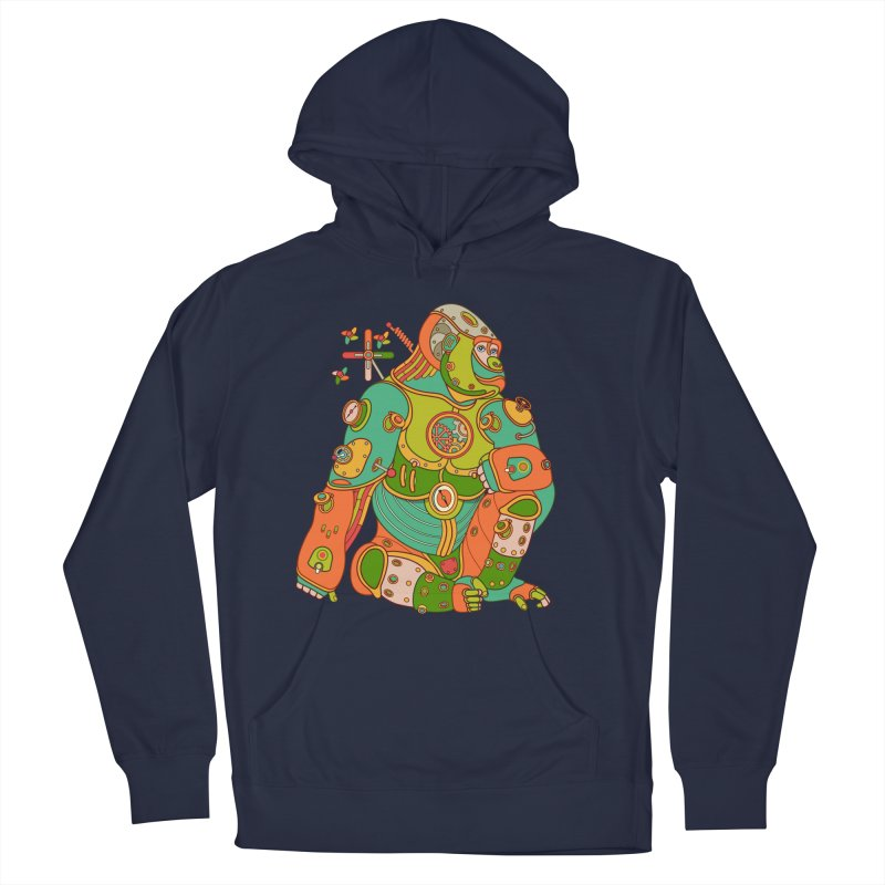 Gorilla, cool art from the AlphaPod Collection Women's French Terry Pullover Hoody by AlphaPod