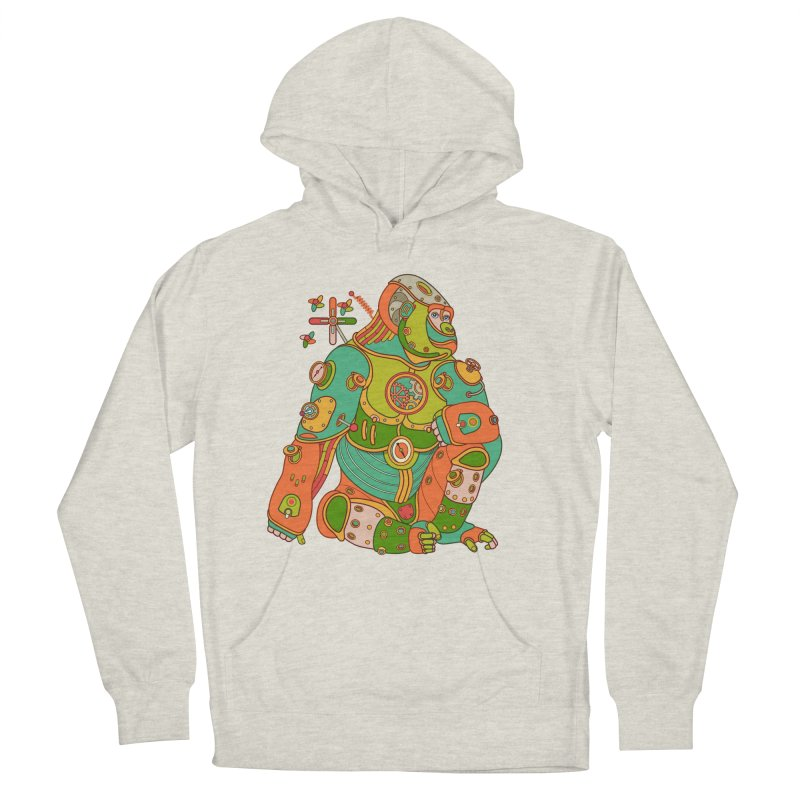 Gorilla, cool art from the AlphaPod Collection Men's French Terry Pullover Hoody by AlphaPod