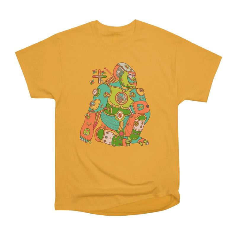 Gorilla, cool art from the AlphaPod Collection Women's Heavyweight Unisex T-Shirt by AlphaPod