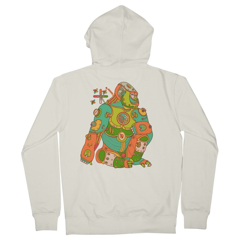 Gorilla, cool art from the AlphaPod Collection Women's French Terry Zip-Up Hoody by AlphaPod