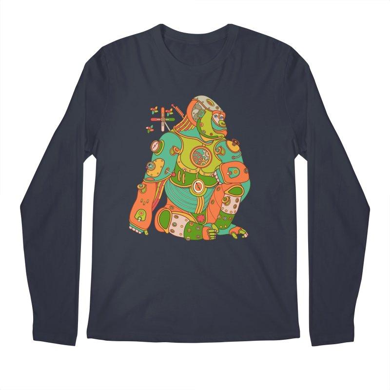 Gorilla, cool art from the AlphaPod Collection Men's Longsleeve T-Shirt by AlphaPod