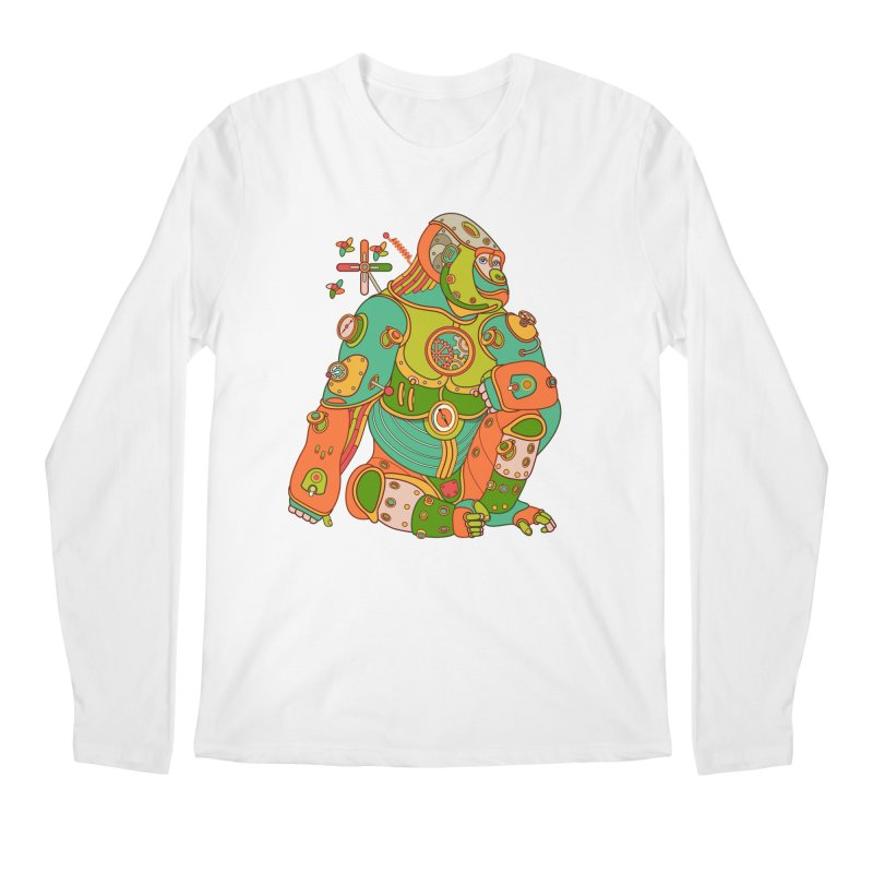 Gorilla, cool art from the AlphaPod Collection Men's Longsleeve T-Shirt by AlphaPod