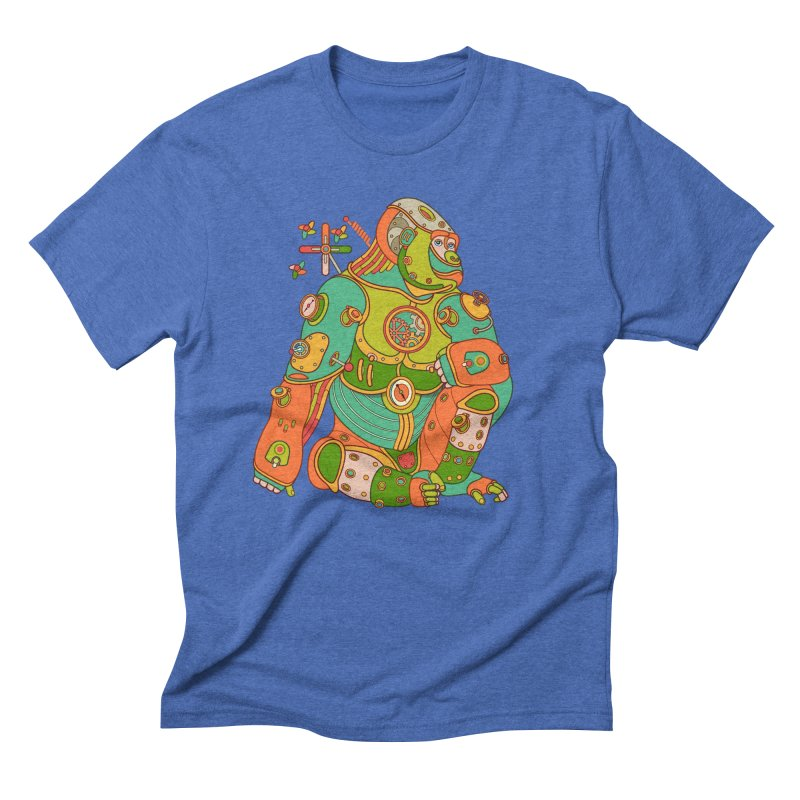 Gorilla, cool art from the AlphaPod Collection Men's Triblend T-Shirt by AlphaPod