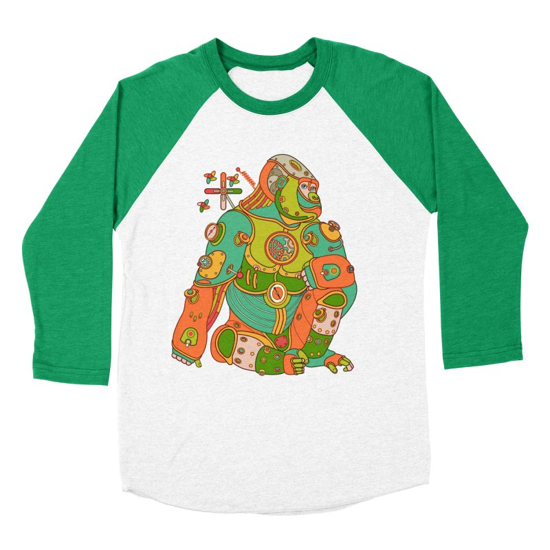 Gorilla, cool art from the AlphaPod Collection Women's Baseball Triblend Longsleeve T-Shirt by AlphaPod
