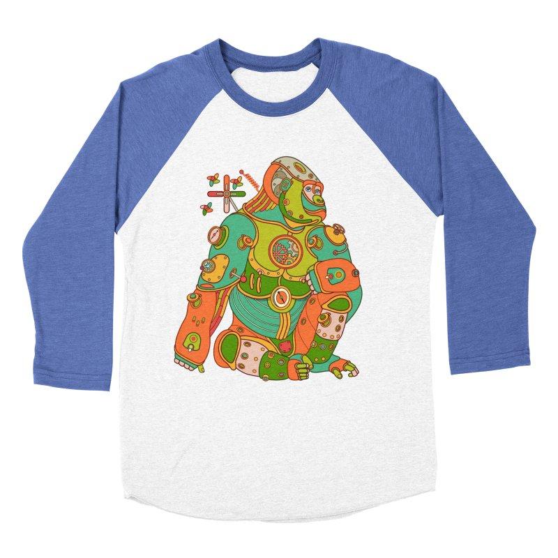 Gorilla, cool art from the AlphaPod Collection Men's Baseball Triblend Longsleeve T-Shirt by AlphaPod