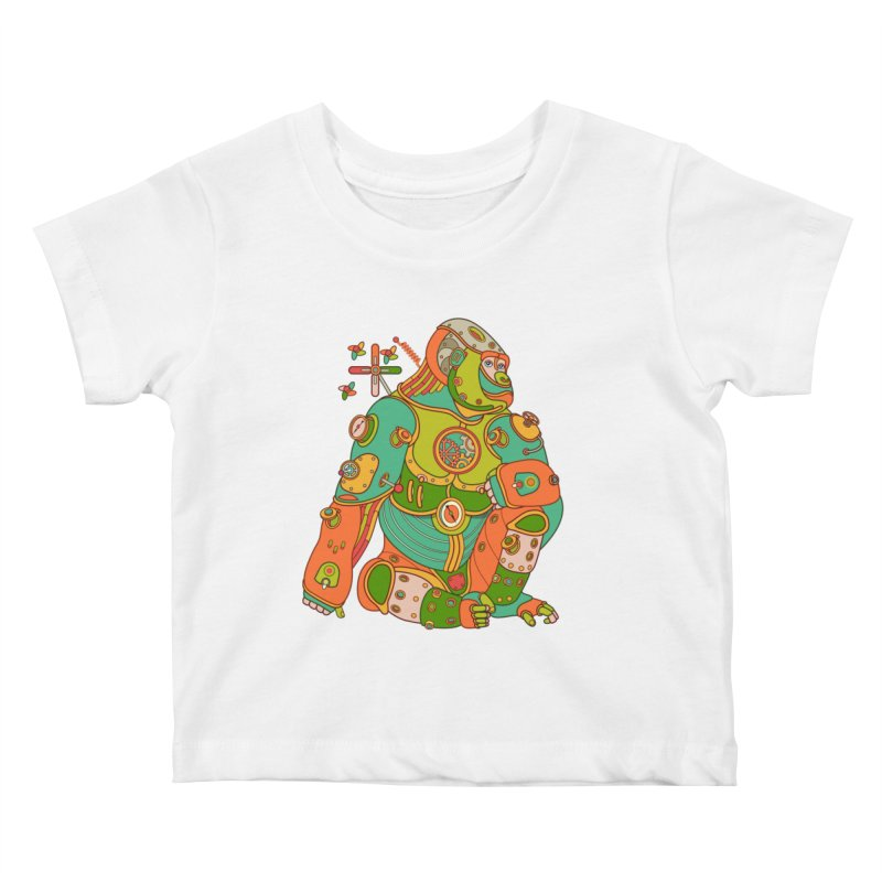 Gorilla, cool art from the AlphaPod Collection Kids Baby T-Shirt by AlphaPod