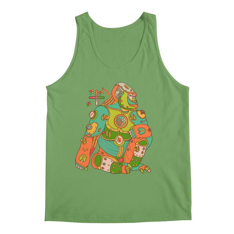 Gorilla, cool art from the AlphaPod Collection Men's Tank by AlphaPod