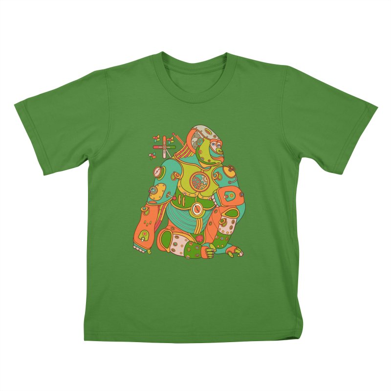 Gorilla, cool art from the AlphaPod Collection Kids T-Shirt by AlphaPod