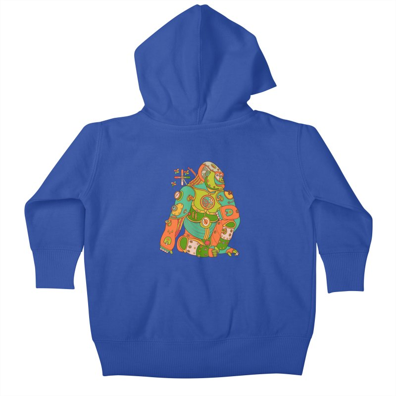 Gorilla, cool art from the AlphaPod Collection Kids Baby Zip-Up Hoody by AlphaPod