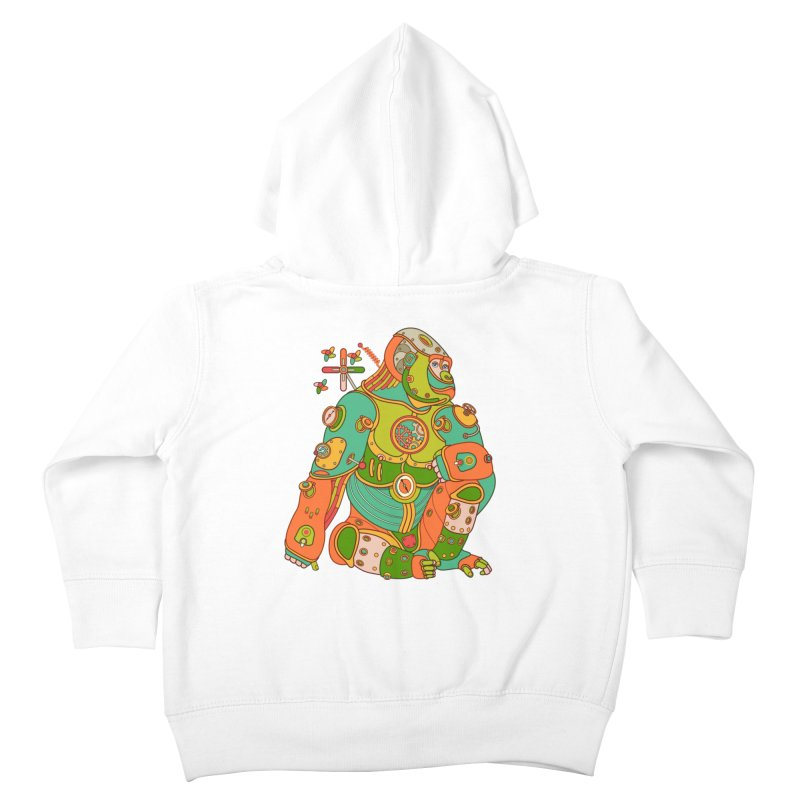 Gorilla, cool art from the AlphaPod Collection Kids Toddler Zip-Up Hoody by AlphaPod