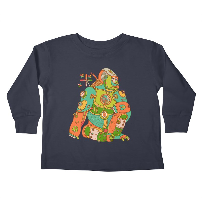 Gorilla, cool art from the AlphaPod Collection Kids Toddler Longsleeve T-Shirt by AlphaPod