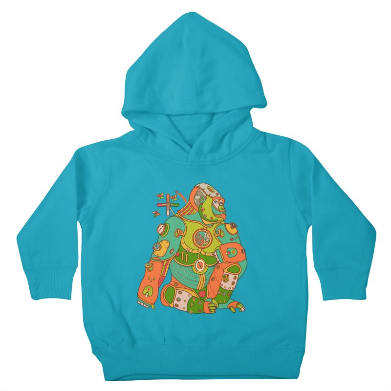 Gorilla, cool art from the AlphaPod Collection Kids Toddler Pullover Hoody by AlphaPod