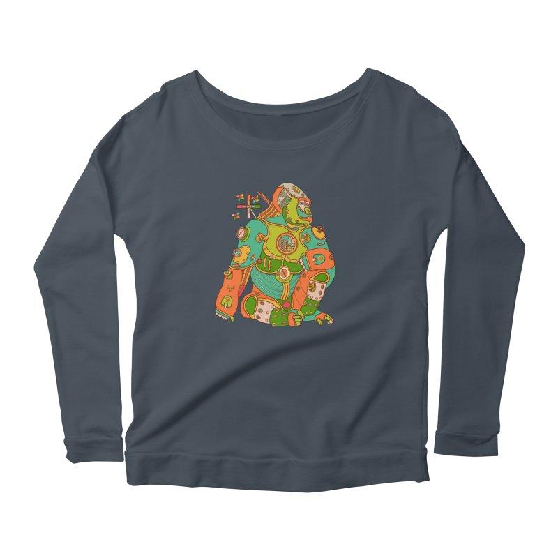 Gorilla, cool art from the AlphaPod Collection Women's Longsleeve T-Shirt by AlphaPod