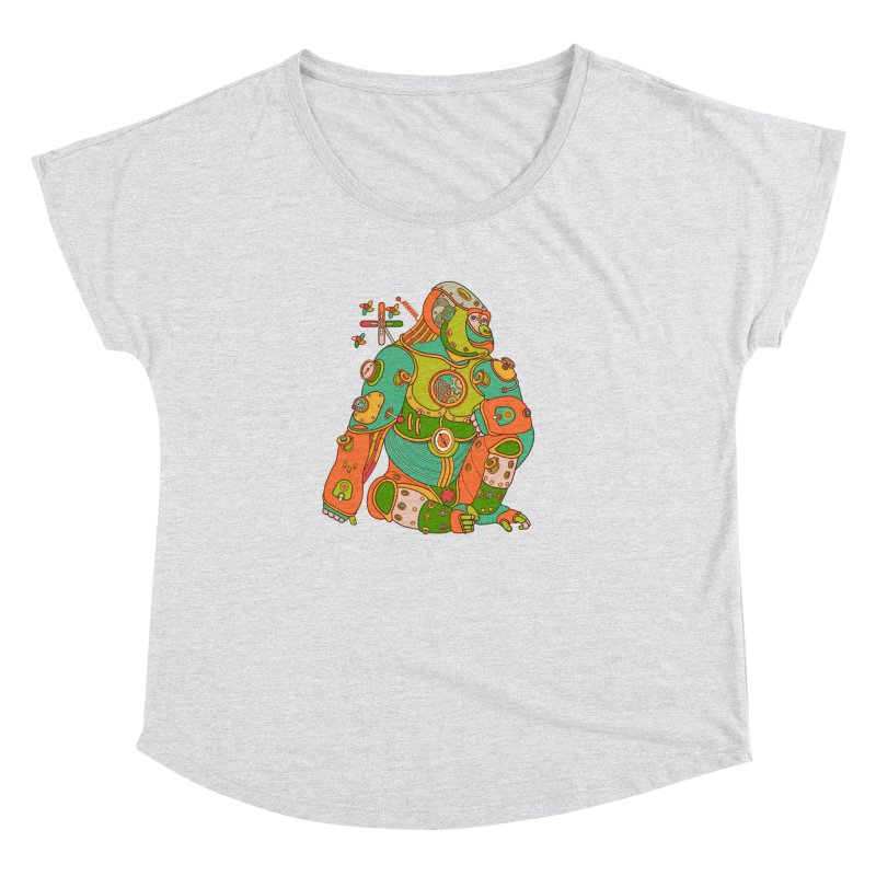 Gorilla, cool art from the AlphaPod Collection Women's Dolman Scoop Neck by AlphaPod