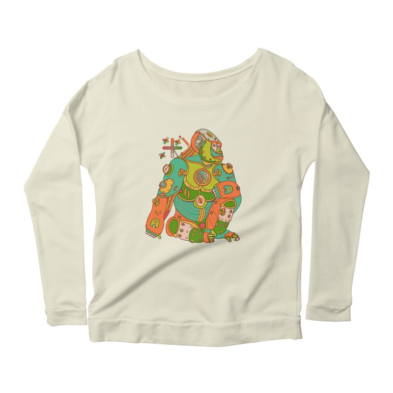 Gorilla, cool art from the AlphaPod Collection Women's Scoop Neck Longsleeve T-Shirt by AlphaPod