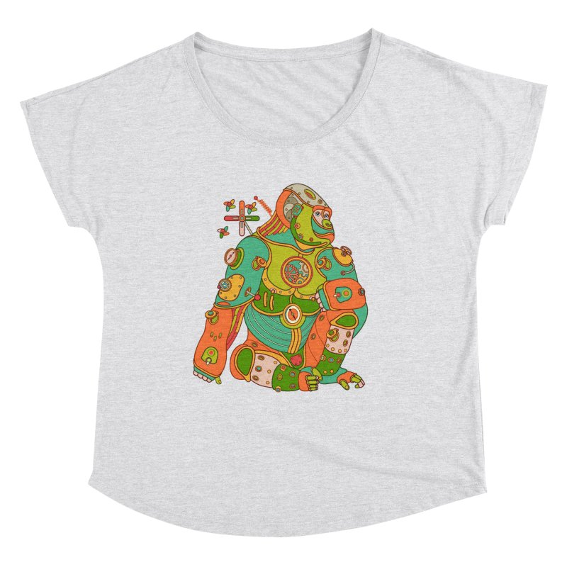 Gorilla, cool art from the AlphaPod Collection Women's Scoop Neck by AlphaPod