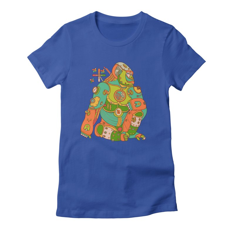 Gorilla, cool art from the AlphaPod Collection Women's Fitted T-Shirt by AlphaPod
