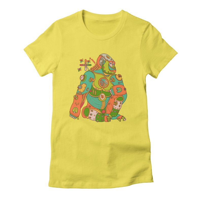 Gorilla, cool art from the AlphaPod Collection Women's T-Shirt by AlphaPod