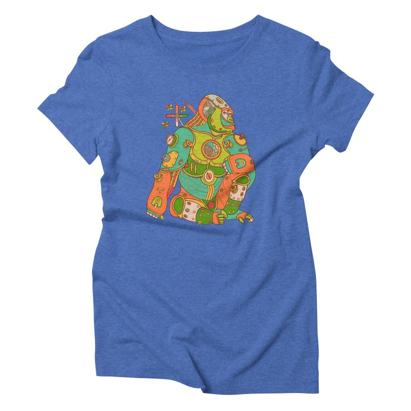 Gorilla, cool art from the AlphaPod Collection Women's Triblend T-Shirt by AlphaPod