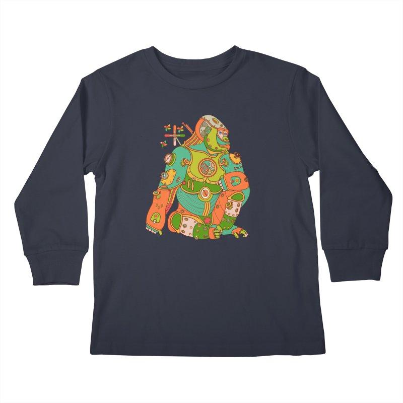 Gorilla, cool art from the AlphaPod Collection Kids Longsleeve T-Shirt by AlphaPod
