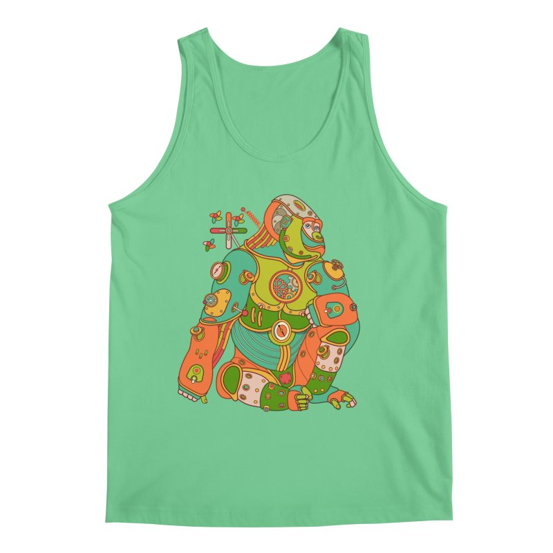 Gorilla, cool art from the AlphaPod Collection Men's Regular Tank by AlphaPod