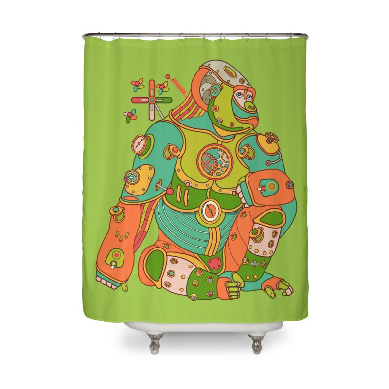 Gorilla, cool art from the AlphaPod Collection Home Shower Curtain by AlphaPod