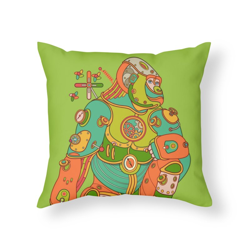 Gorilla, cool art from the AlphaPod Collection Home Throw Pillow by AlphaPod