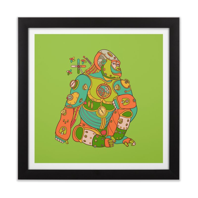 Gorilla, cool wall art for kids and adults alike Home Framed Fine Art Print by AlphaPod