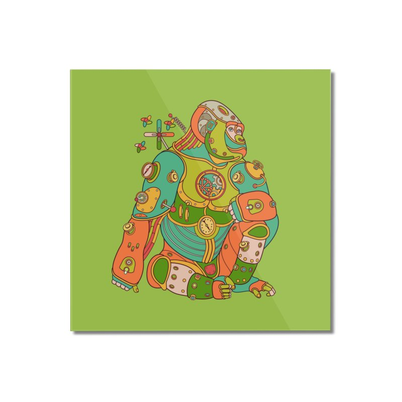 Gorilla, cool wall art for kids and adults alike Home Mounted Acrylic Print by AlphaPod