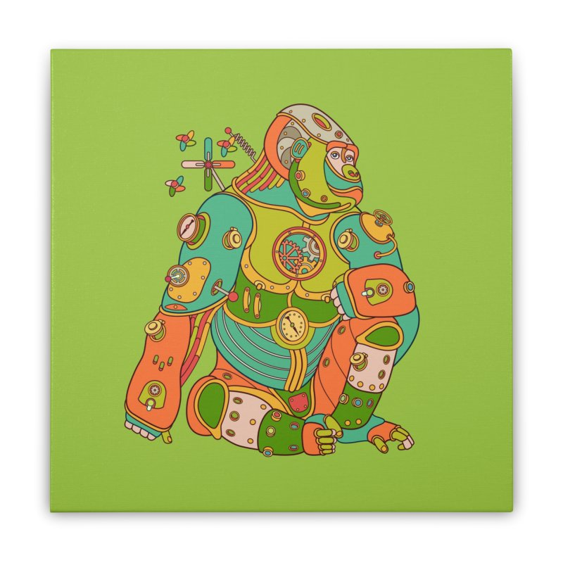 Gorilla, cool wall art for kids and adults alike Home Stretched Canvas by AlphaPod