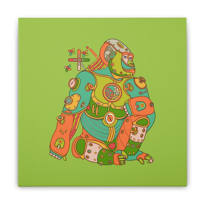 Gorilla, cool art from the AlphaPod Collection Home Stretched Canvas by AlphaPod