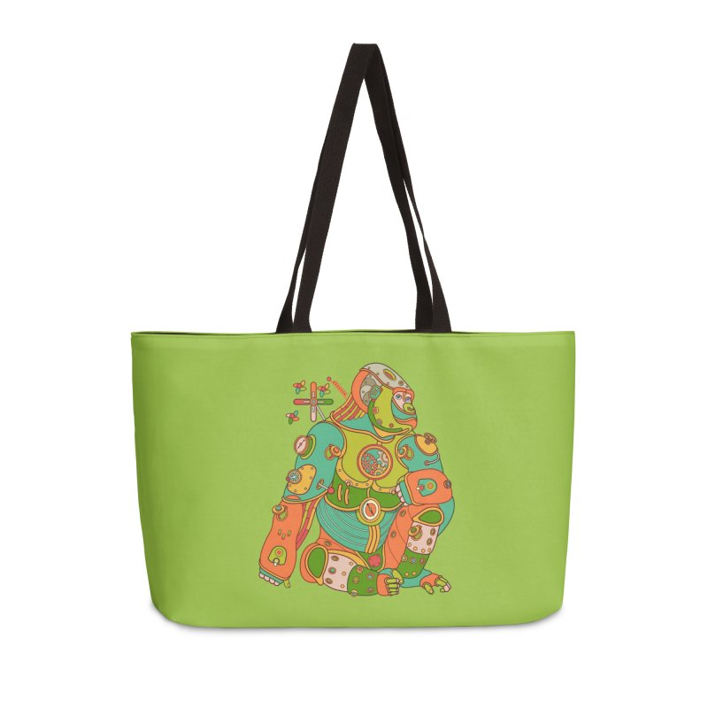 Gorilla, cool art from the AlphaPod Collection Accessories Weekender Bag Bag by AlphaPod
