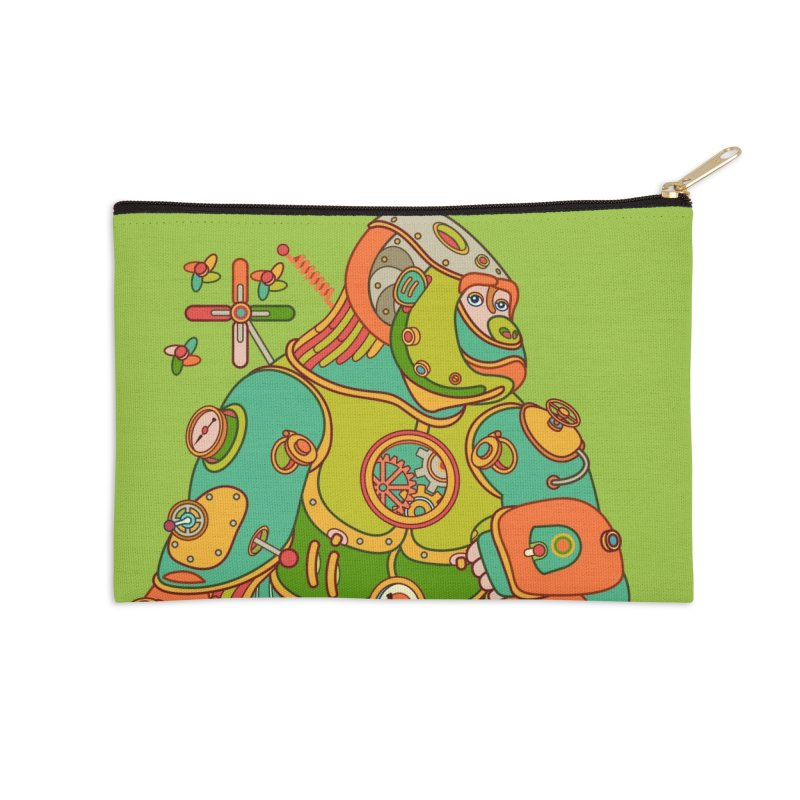 Gorilla, cool art from the AlphaPod Collection Accessories Zip Pouch by AlphaPod