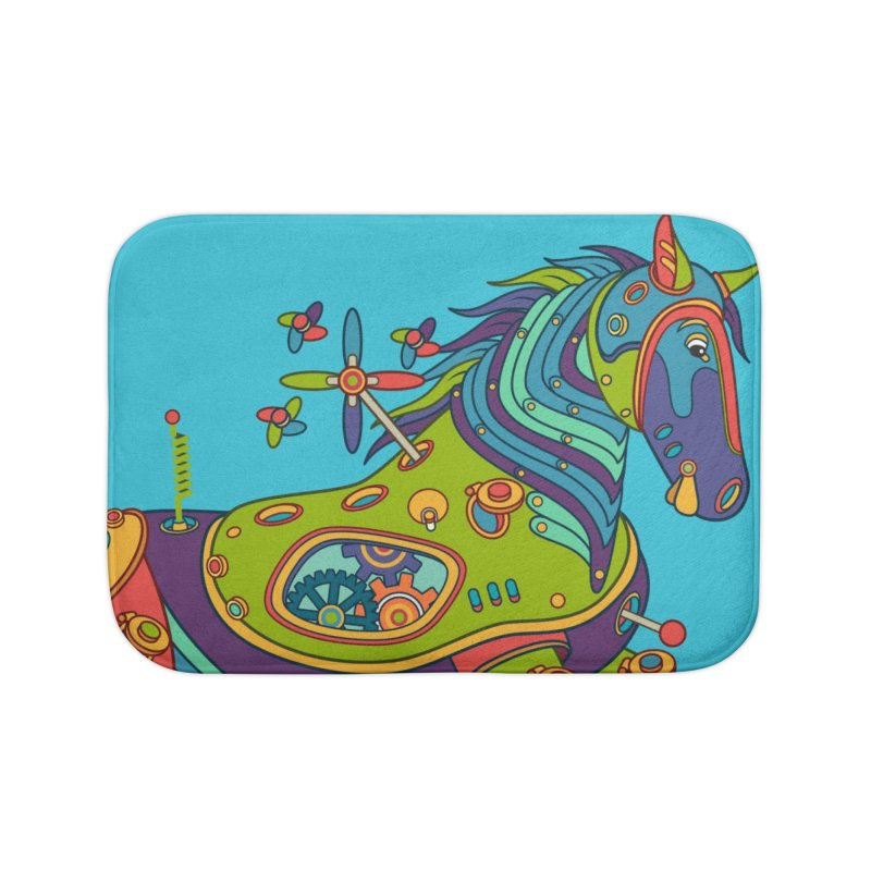 Horse, cool wall art for kids and adults alike Home Bath Mat by AlphaPod